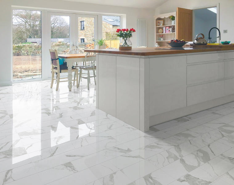 Calacatta Super White Marble Porcelain Floor Tile Polished Soft Matte China Glazed Kitchen & Bathroom Ceramic Shower tiles