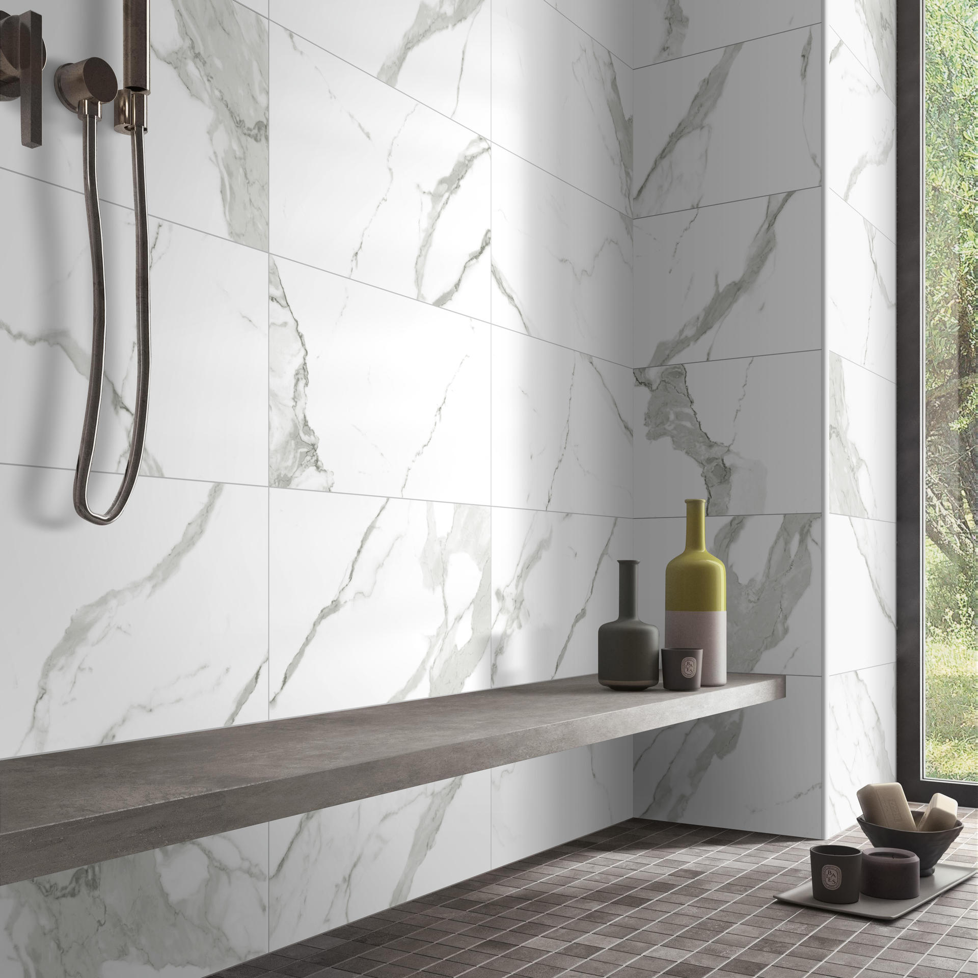 Calacatta Super White Marble Porcelain Floor Tile Polished Soft Matte China Glazed Kitchen & Bathroom Ceramic Shower tiles