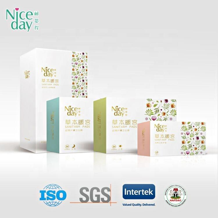 Made by foshan niceday sanitary products co/stayfree pads women