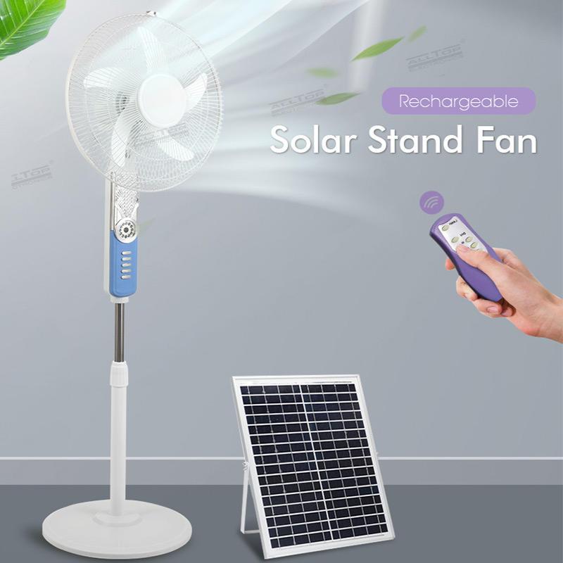 ALLTOP High quality Air circulation mute floor fans 16inch solar electric fan