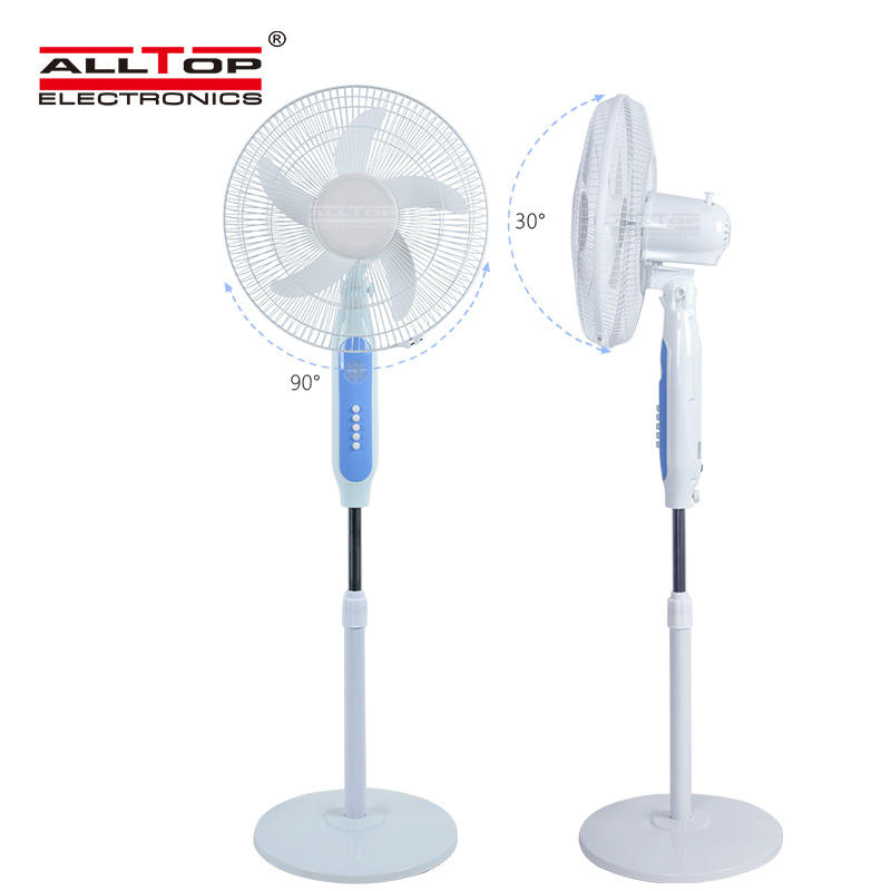 ALLTOP Wholesale china rechargeable table fan portable USB 16 inch 15V dc fan solar standing electric Fan