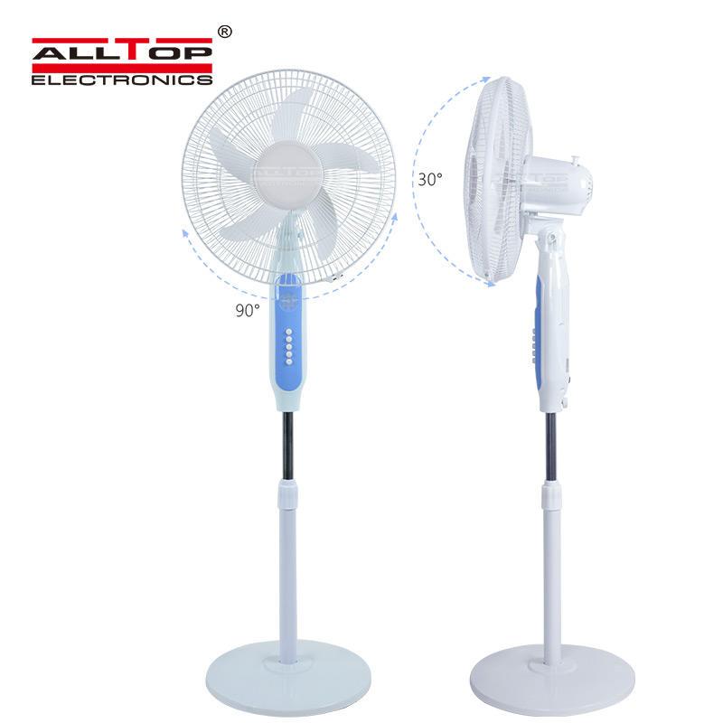ALLTOP Wholesale china rechargeable table fan portable USB 16 inch 15V dc fan solar standing electric Fan