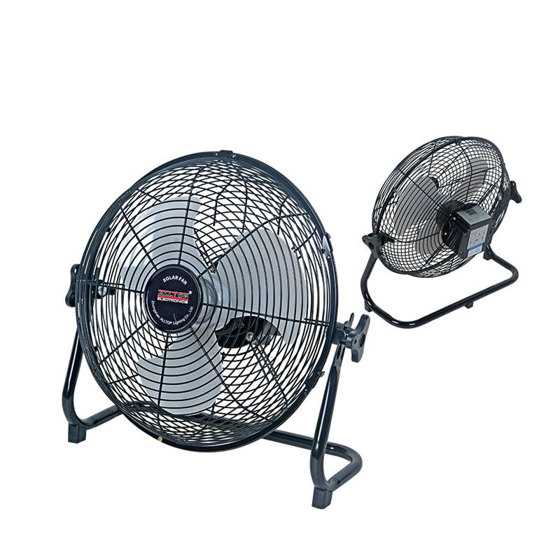 ALLTOP Energy saving 10 Inch 24w solar panel Indoor Outdoor rechargeable solar fan