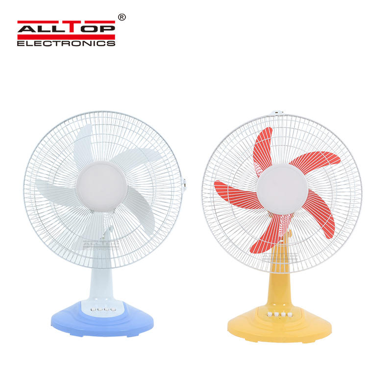 ALLTOP New design 16 inch three wind speed five blades rechargeable solar fan