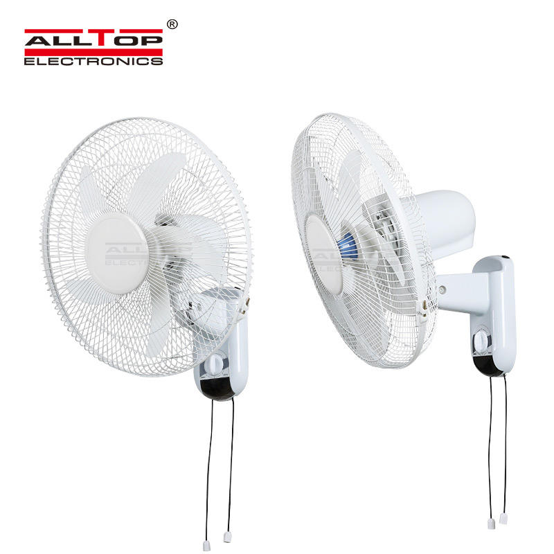 ALLTOP High Quality Five-leaf Bionic Fan Blade Three-wind Speed 16 Inch Solar Wall Mounted Fan
