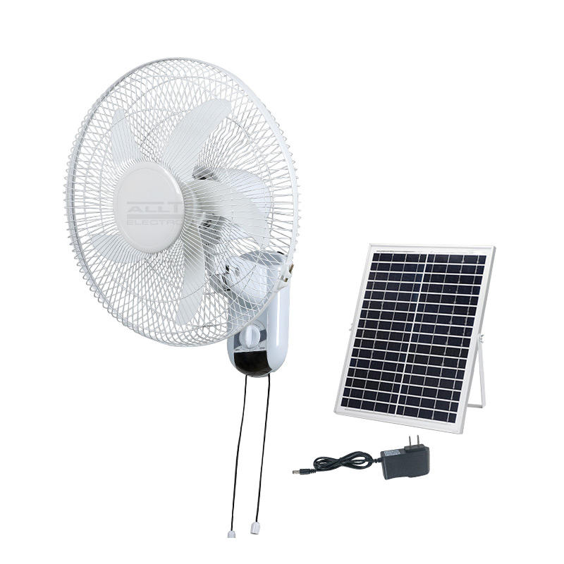 ALLTOP 16 Inch solar power electric home ventilateur parts solar wall mounted fan