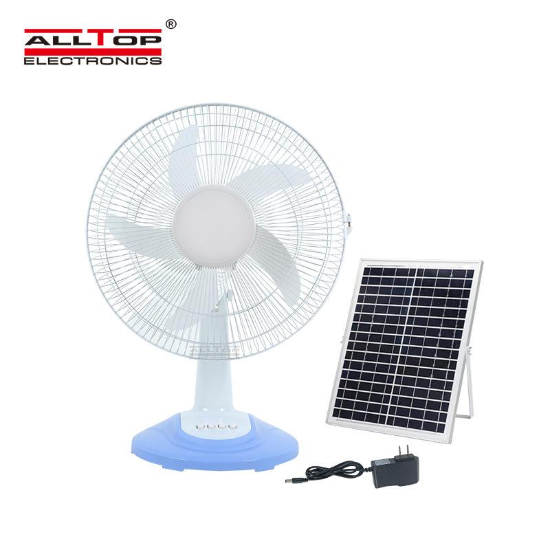 ALLTOP High Performance motor three wind speed five blades blow vigorously solar fan