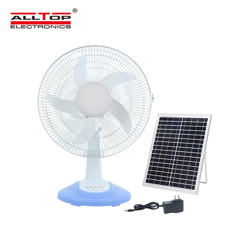 ALLTOP High Performance motor three wind speed five blades blow vigorously solar fan