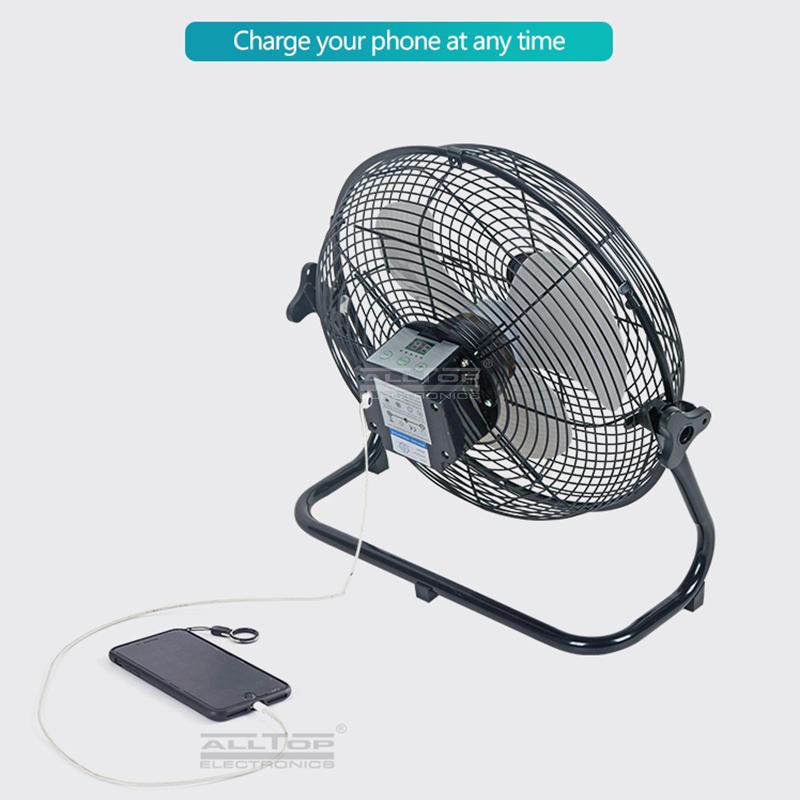 ALLTOP New Products Rechargeable solar panel 24w home solar power fan solar fan