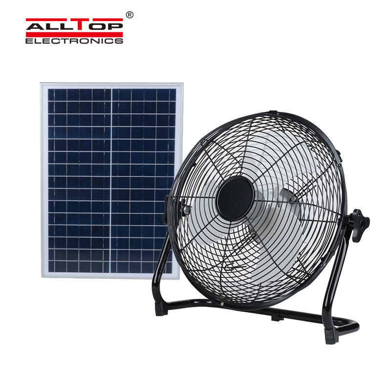 ALLTOP New Products Rechargeable solar panel 24w home solar power fan solar fan