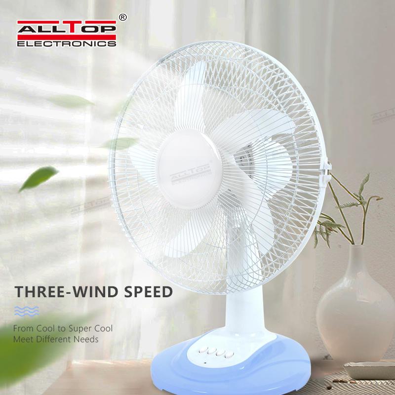 ALLTOP High quality motor safety air circulation fan three wind speed five blades mini solar table fan
