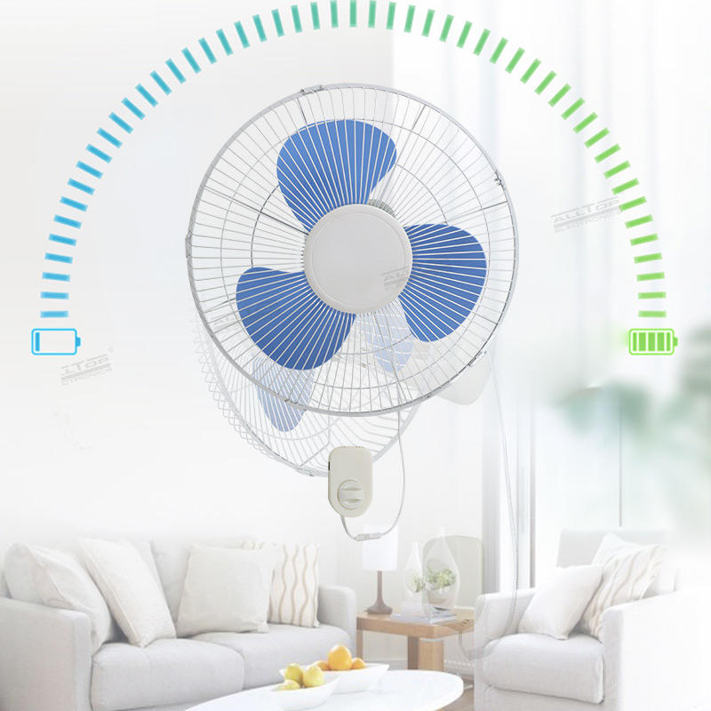 ALLTOP Manufacturer Price High Speed Plastic Blade 3 Speed 16inch Wall Mount Fan