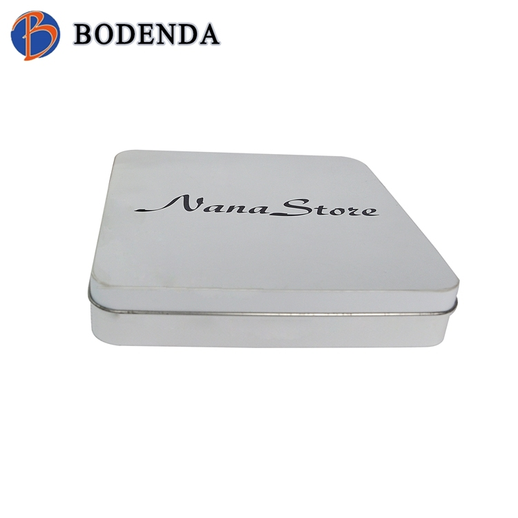 white bulk square tea tin canisters with airtight lid