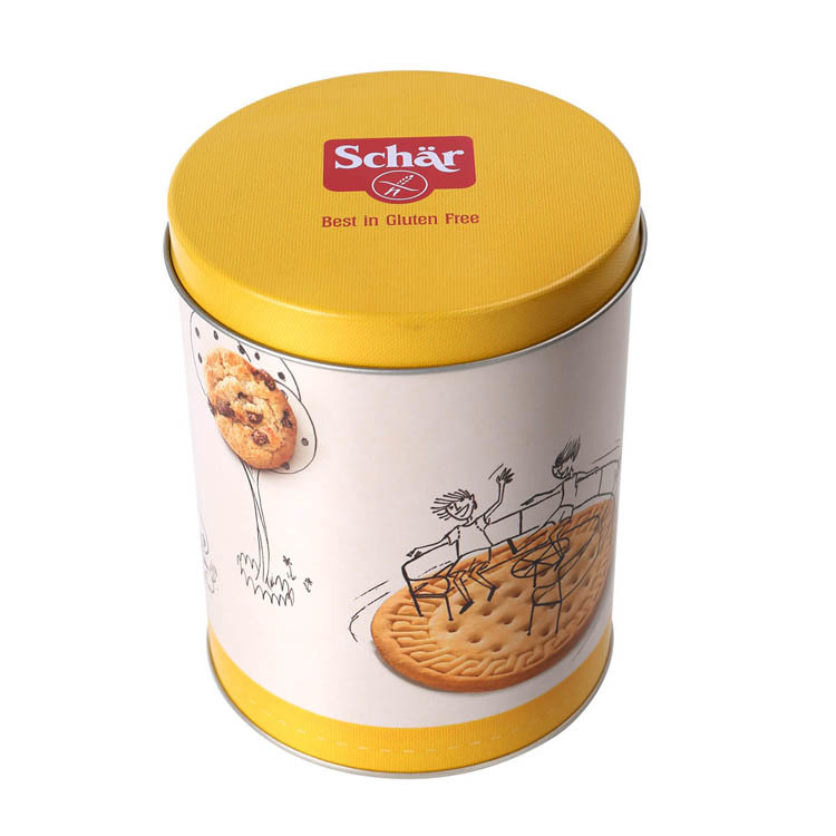 Custom Metal round Gift Packing Tin Boxes For Cookies