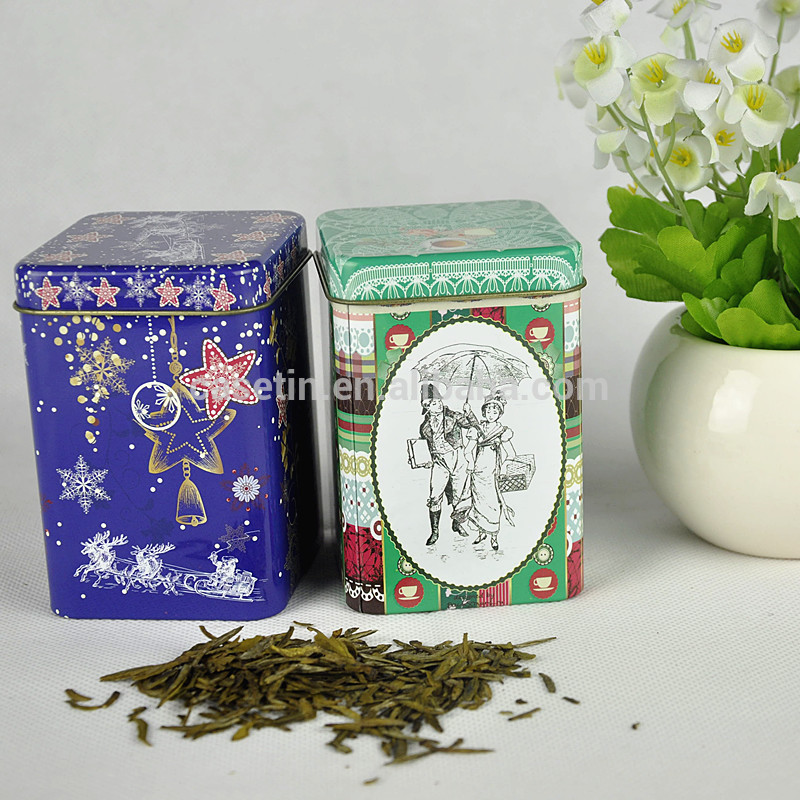 custom round metal tin tea caddy , tea bag caddy