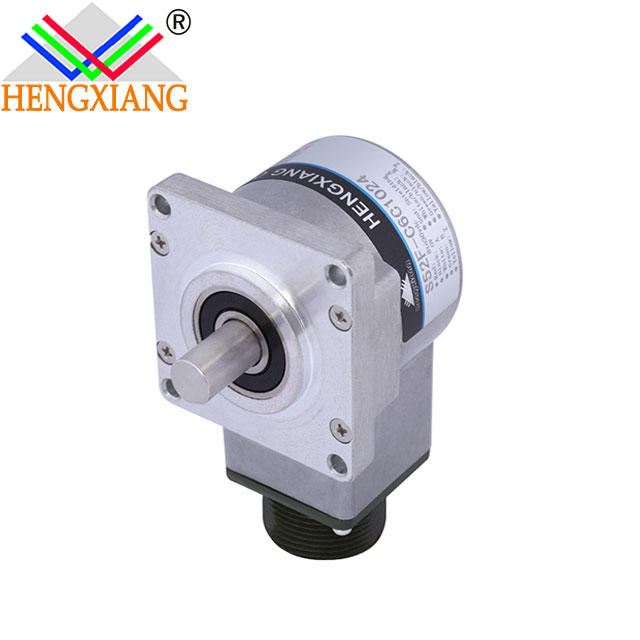 S52F square flange rotary encoder 52*52mm with the shaft seal H25 Incremental Encoder elevator encoder
