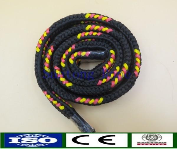 Braided flat rope