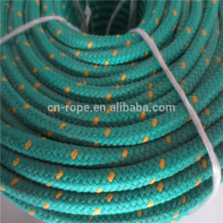 5mm with tracers polyester braided rope for packing