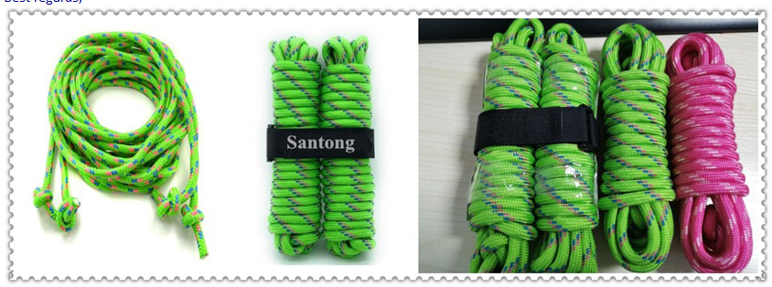 nylon / pp braided ropes 24 strands