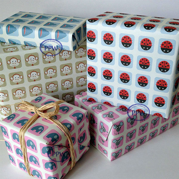 New Design Printed Gift Wrapping Parcel Paper Wholesale