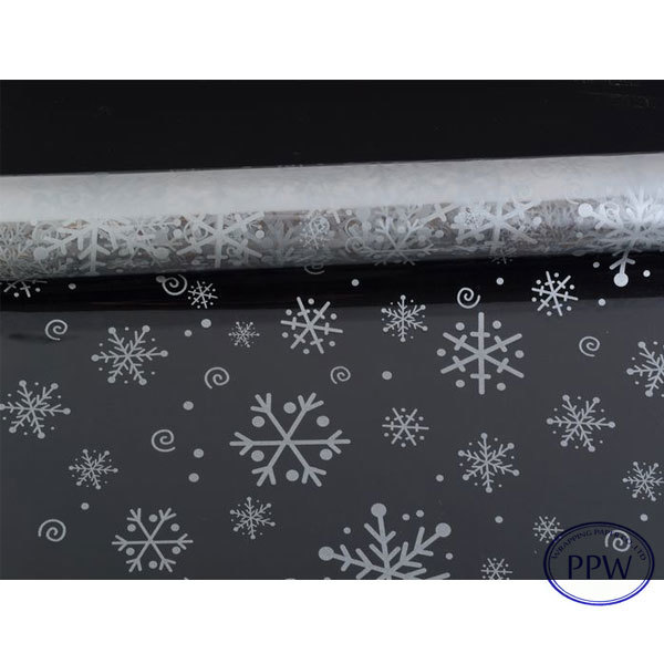Snowflake Printing Transparent Gift Wrapping Paper