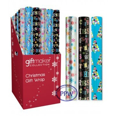 factory Hot sale Custom Gift wrapping paper roll in PDQ display box