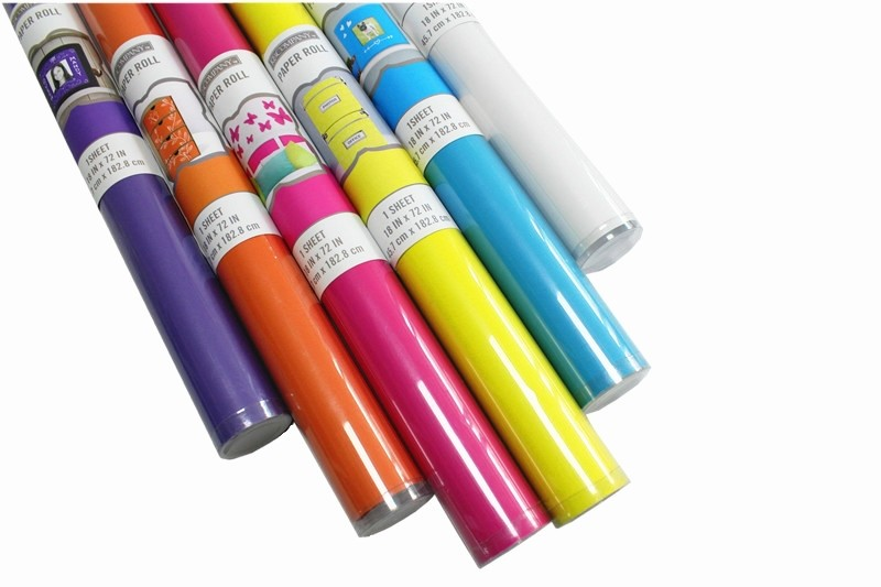 Solid Color For USA Letter Fluorescent Gift Wrapping Paper Wholesale