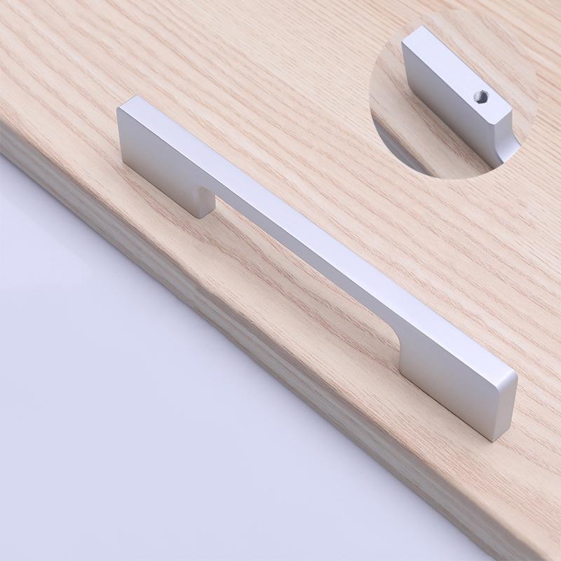 Cabinet aluminium black kitchen cabinet handles and knobs