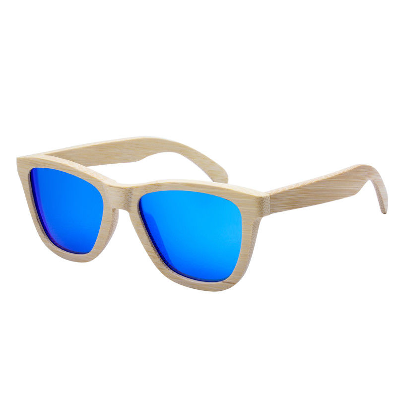 EUGENIA hyper good look sunglass stand PC lens bamboo foot sunglasses for men and women