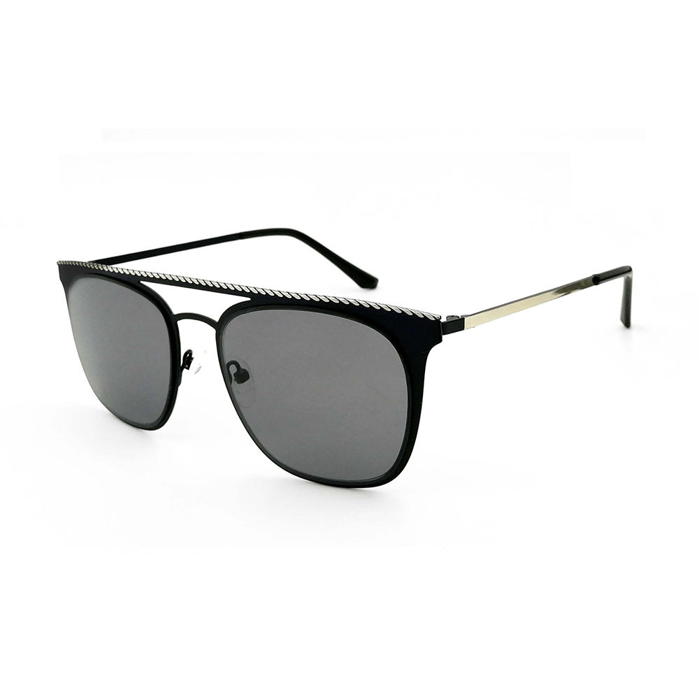 EUGENIA newest fashion sun glasses vintage square light weight quality polarized metal sunglasses