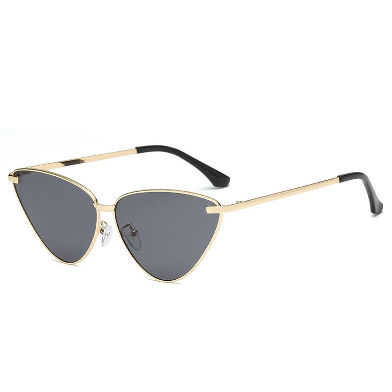 EUGENIA metal custom novelty sunglasses colorful women trendy cat eye sunglasses