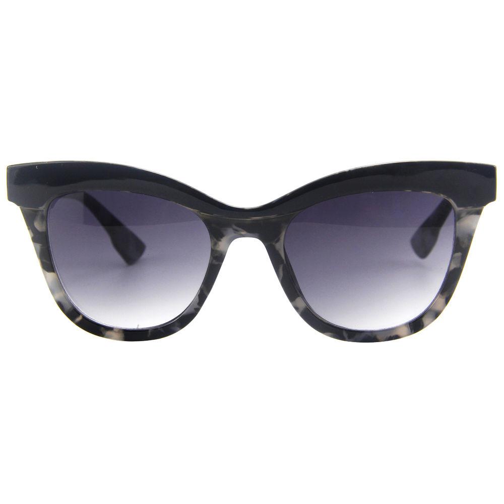EUGENIA True Polish Colors Black Leopard Print Mirror Polarized Oculos De Sol Sunglasses For Women