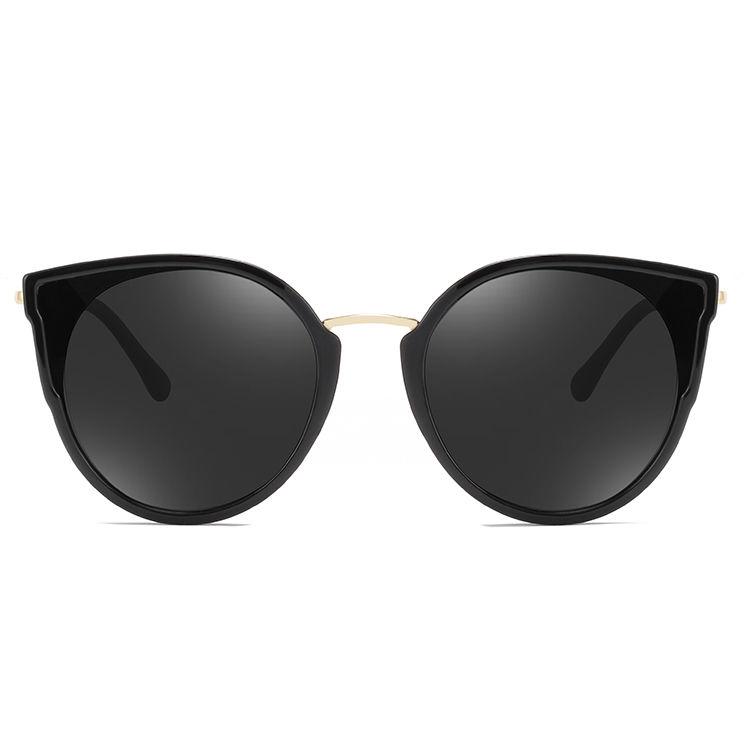 EUGENIA Fashion design logo printed oversized frame eye glasses branded sunglasses