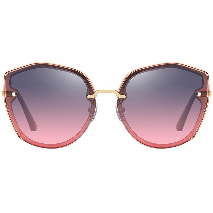 EUGENIA Wholesale Fashion Polarized Clear PC Frame Sunglasses Brand Designer Custom Logo Sunglasses 2021