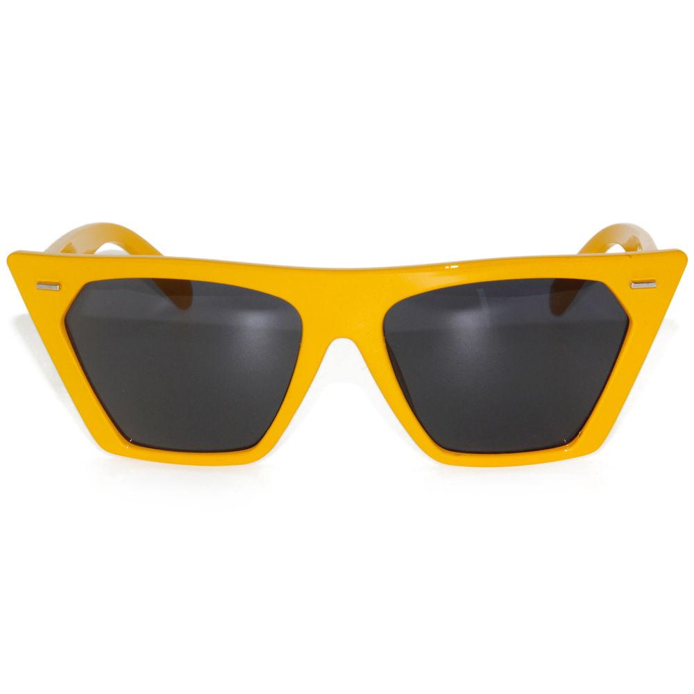 EUGENIA vintage bright color UV400 protection cat eye custom logo fancy women sunglasses 2021