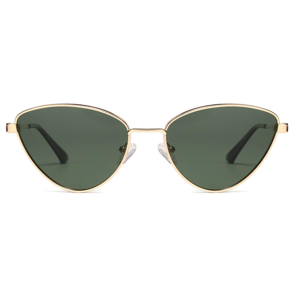EUGENIA Triangle Stainless Cat Eye 2020 Stylish Custom Logo Women Sunglasses