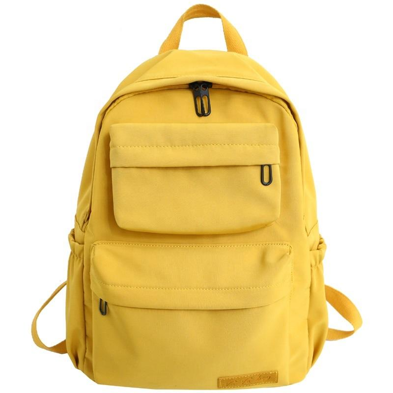 mochilas Outdoor Nylon Unisex Sports Leisure Travel School Shoulder Backpacks girls boys multi-pocket Pure color student fashion backpack