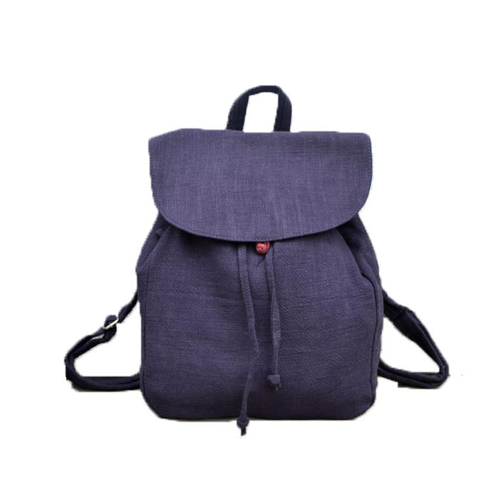 mochilas Natural Linen Ecology Backpack for Women 2020 Female Daily Quality Fabric Eco-friendly Simple Design Knapsack Bag for Student