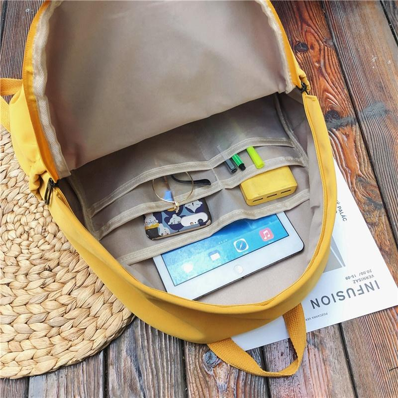 mochilas Outdoor Nylon Unisex Sports Leisure Travel School Shoulder Backpacks girls boys multi-pocket Pure color student fashion backpack