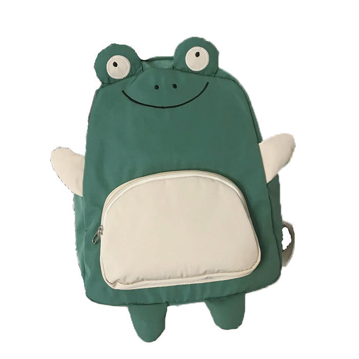 mochilas New Cute Cartoon Frog Duck Backpack Women Schoolbag for Teenage Girls Female Back Pack Nylon School Backpack Female Teen Bagpack