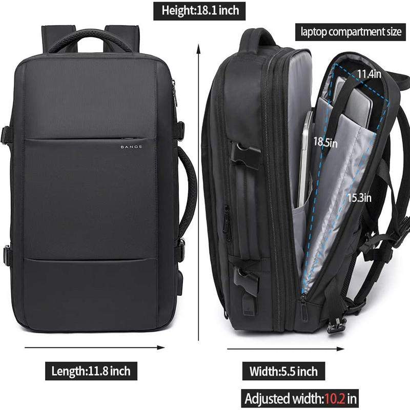 mochilas 38L Travel Backpack,Flight Approved Carry On Backpack for International Travel Bag, Water Resistant Durable 17-inch Laptop bag
