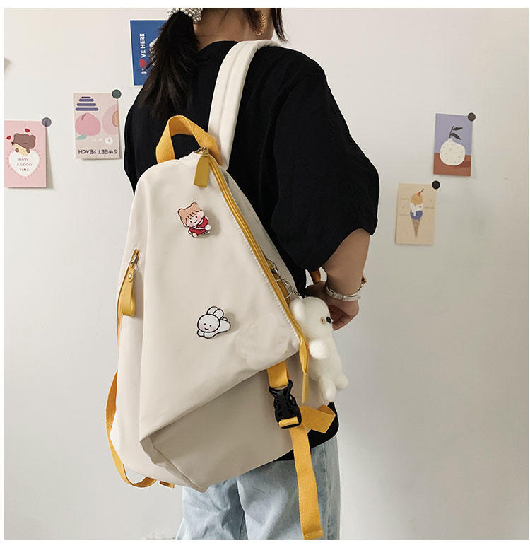 mochilas New Teen Schoolbag for Girls Backpack Black Pink Nylon Cute Cartoon College School BackPack Women Teenage Student Schoolbag 2020