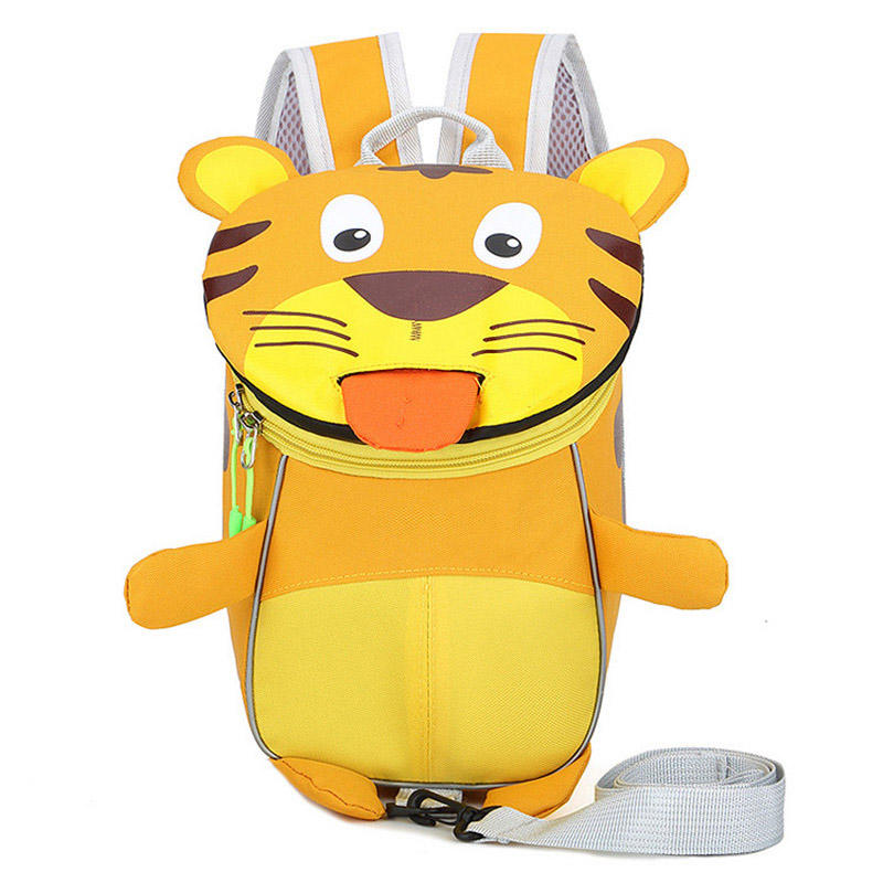 mochilas 2020 New Arrival Anti-lost Cute Tiger Children Backpacks for Girl Boys Kids School Bags Kindergarten Cartoon Bag Toddler mochila