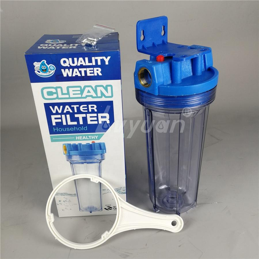10 inch Clear Plastic Water filter housing transparent for Pre Water Purifier