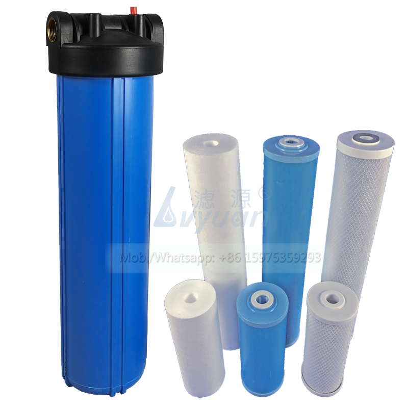 Jumbo water housing 10 20 inch PP/GAC/CTO big blue 3 stage water filter for whole house water treatment