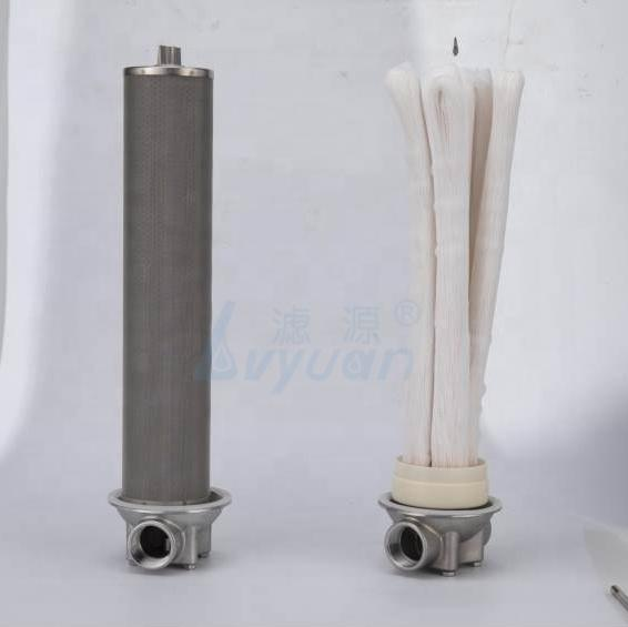 10 20 inch Slim/Jumbo 0.01um micron Pressured pvdf hollow fiber uf filter membrane for water purifier filter cartridge
