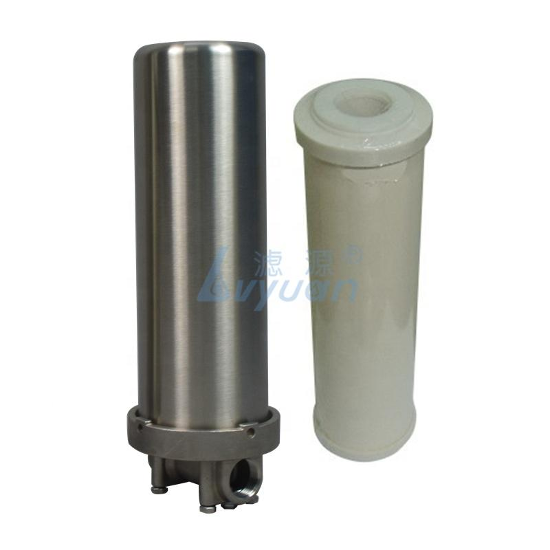 Household 10 inch ceramic 304 stainless steel cartridge water filter system