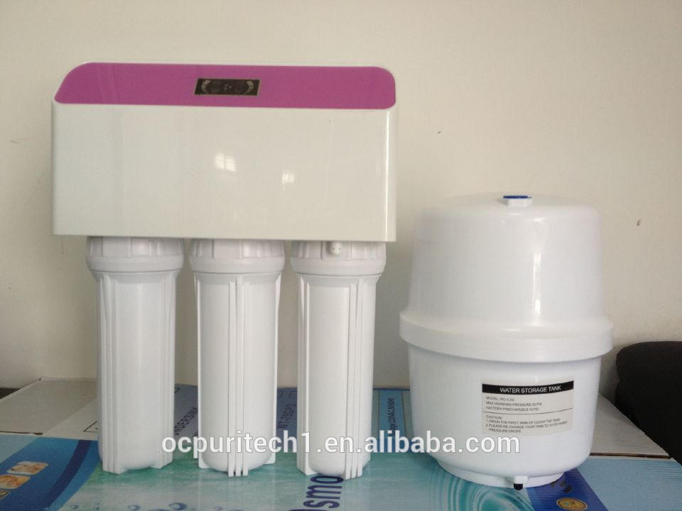 50 gallons ro water plant with booster pump under the sink