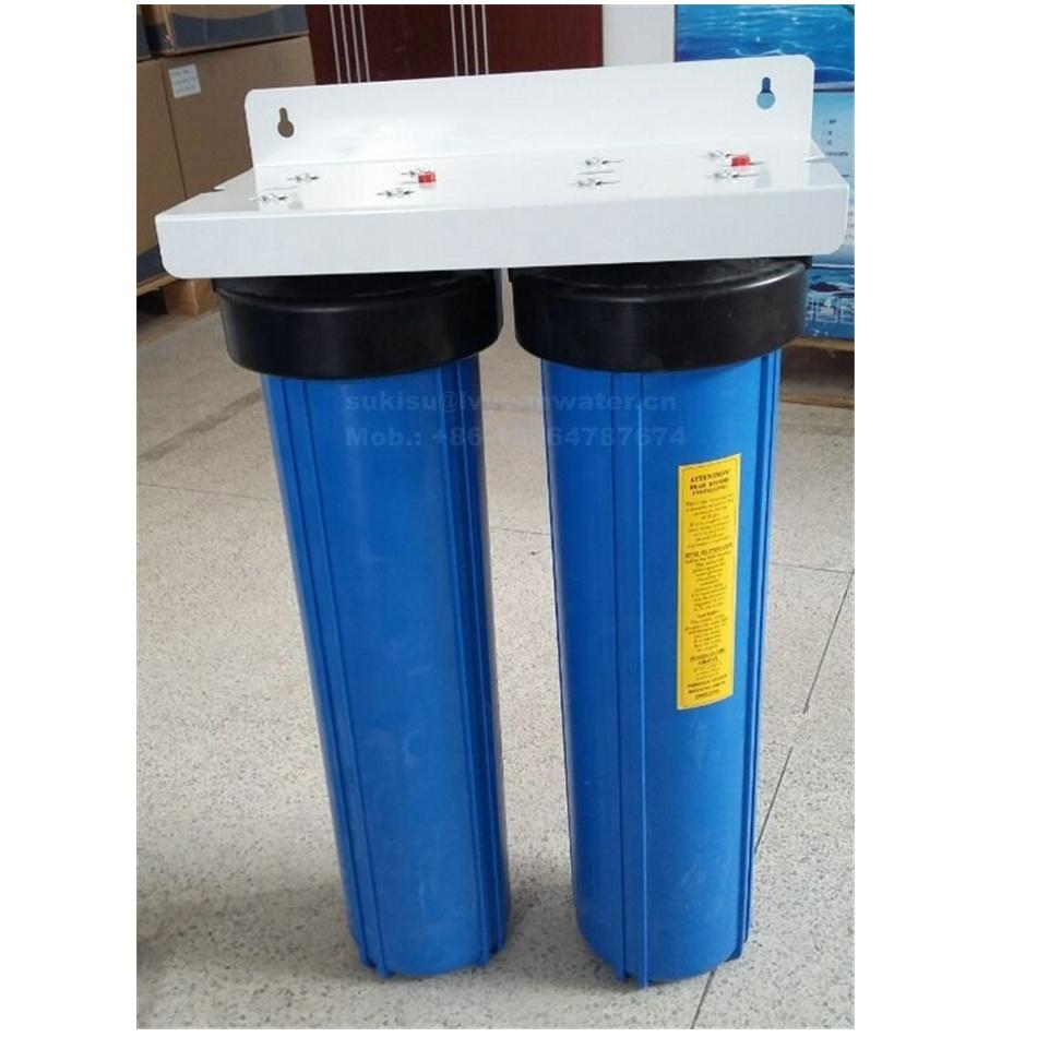 Residential 2 stage 20 inch PP/CTO/GAC big blue water filter housing