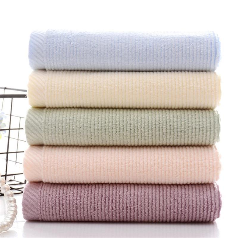 Bamboo Fiber Towel White Hand/Face Pink Silk for Face Fitness Custom Woven Bamboo_Face_Towel
